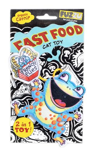 Frog and French Flies Cat Toy - Fast Food