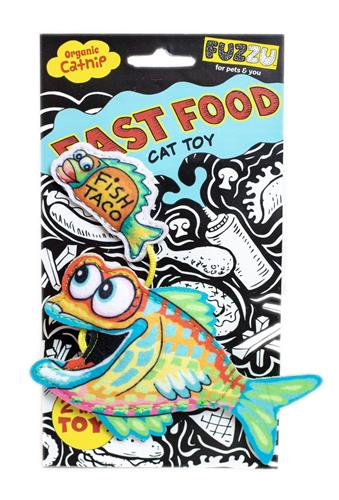 Fish and Taco Cat Toy - Fast Food