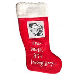"Dear Santa Frame Stocking 18"" by Lulubelles"