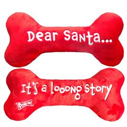 Dear Santa Bone by Lulubelles (embroidered two sides)