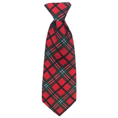 Red Tartan Long Tie by Huxley & Kent