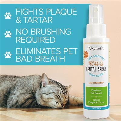 Pet Dental Breath Spray by Oxyfresh  - 3 oz. Spray Bottle