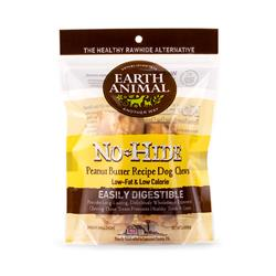 "Earth Animal No-Hide Peanut Butter Small (4"") Dog Chews, 2 Pack"