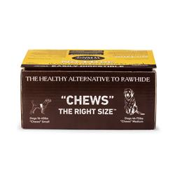 Earth Animal No-Hide Peanut Butter Dog Chews, 27 Count Display Box (9 Medium & 18 Small)