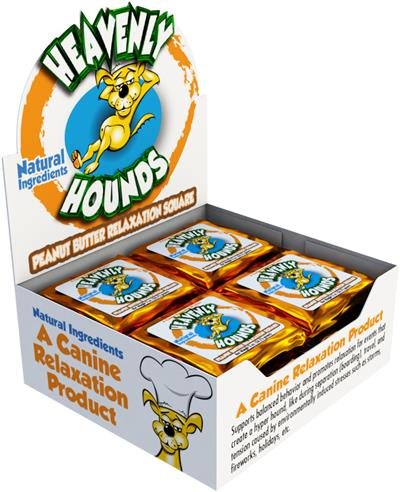 Heavenly Hounds - Box of 12 Individually Wrapped 2 oz. Relaxation Squares