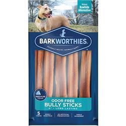 Barkworthies Bully Stick - Odor Free - 06'' (5-Pack )