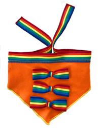 RAINBOW RIBBON PRIDE SCARF