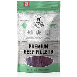 Premium Beef Fillets - Canine Cravers Dog Treats, 5.3oz. Bag