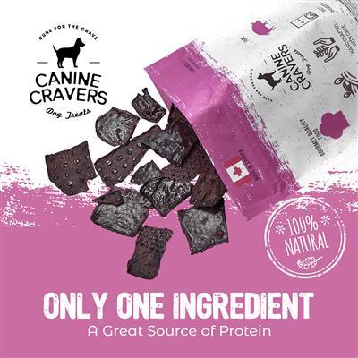 Tender Pork Thins - Canine Cravers Dog Treats, 5.3oz. Bag