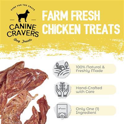 Farm Fresh Chicken - Canine Cravers Dog Treats, 5.3oz. Bags
