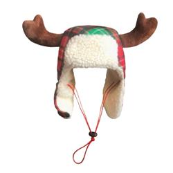 Red Tartan Trapper Hat with Snug Fit by Huxley & Kent