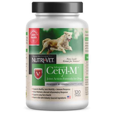 Nutri-Vet Cetyl-M Advanced Joint Action Formula Chewable Tablets, 120 count