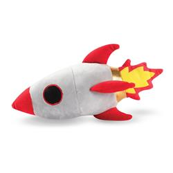 Rocket Ship Plush Dog Toy