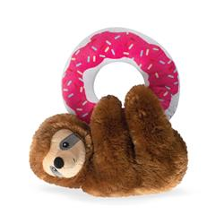 Donut Leave Me Hangin' Sloth Plush Dog Toy
