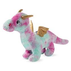 Magenta Dragon Plush Dog Toy