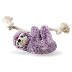 Violet Sloth On A Rope Plush Dog Toy