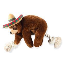 Sombrero Slth Ona Rope Plush Dog Toy