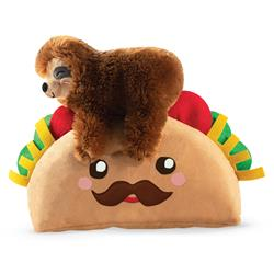 Taco Sloth Plush Dog Toy