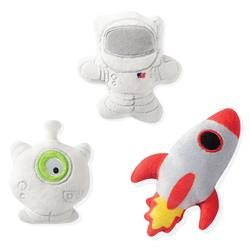 Space 3 Piece Small Dog Toy Set