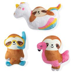 Summer Sloths 3 Piece Small Dog Toy Set