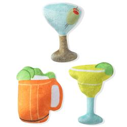 Cocktails 3 Piece Small Dog Toy Set