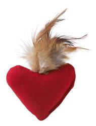 Cat Toy heart, 8 cm with feather and Catnip, HUNTER International, Germany - COPY