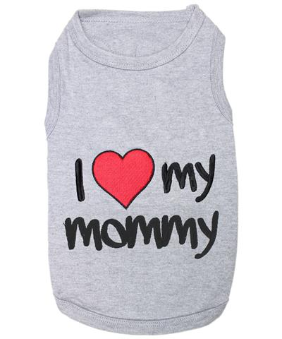 I Love Mommy - Gray Dog T-Shirt
