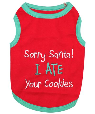 Sorry Santa I Ate Your Cookies Dog T-Shirt