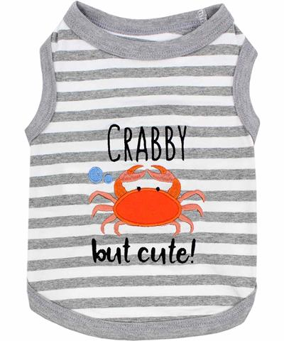 Crabby but Cute Tee Dog T-Shirt