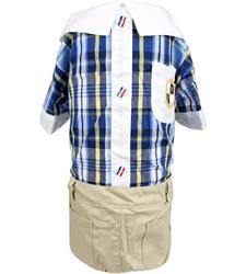Plaid Royal Jumpsuit