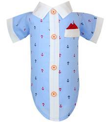 Anchor Dress Shirt & Hanky