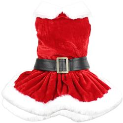 Mrs Claus Suede Dress