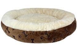 Brown Paw Prints Bed