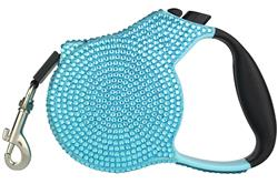 Blue Crystal Retractable Leash