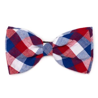 Red/White/Blue Check Bow Tie