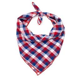 Red/White/Blue Check Tie Bandana