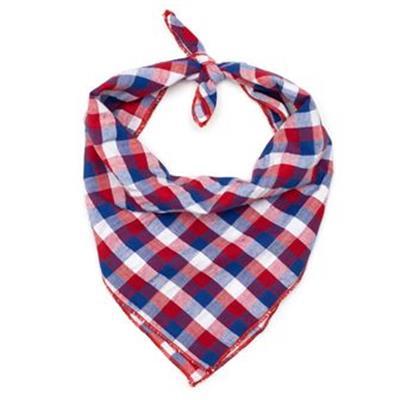 Red/White/Blue Check Tie Bandana