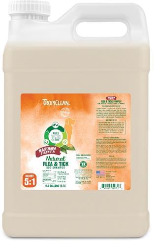 Tropiclean Natural Flea and Tick Shampoo Maximum Strength 2.5 Gallon