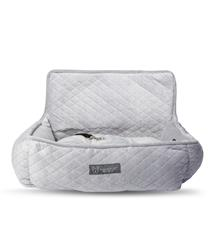 CAR SEAT QUILTED LIGHT GRAY