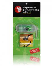Lola Bean Dispenser Oval Shaped & 2 Pet Waste Bag Rolls (60 count)