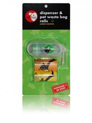 Lola Bean Dispenser Oval Shaped & 2 Pet Waste Bag Rolls (60 count)