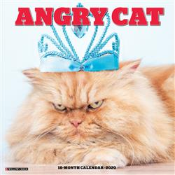 Angry Cat 2020 Wall Calendar