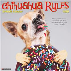 Chihuahua Rules 2020 Wall Calendar