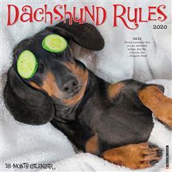 Dachshund Rules 2020 Wall Calendar