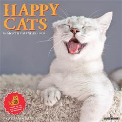 Happy Cats 2020 Wall Calendar