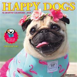 Happy Dogs 2020 Wall Calendar