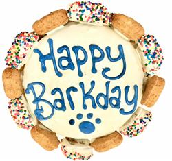 Happy Barkday Cake with Gourmutt Bones - Blue