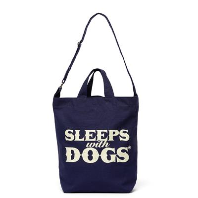 SLEEPS WITH DOGS® TOTE BAG - NAVY