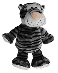 "Medium Plush Tiger Dog Toy - 8"" Size"