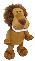 "Medium Plush Lion Dog Toy - 8"" Inch Tall"